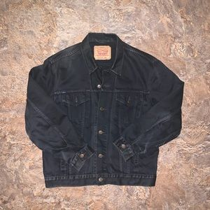 Vtg Levi Strauss black denim trucker jacket